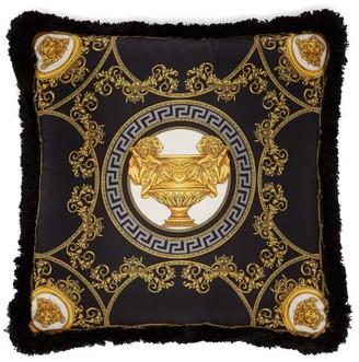 Versace La Coupe Des Dieux Silk Cushion - Black Gold