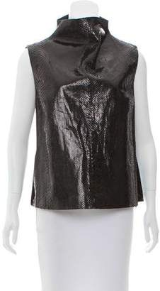 Trussardi Sleeveless Snakeskin Top