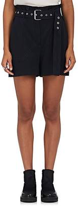 3.1 Phillip Lim Women's Pinstriped Belted Tech-Twill Utility Shorts