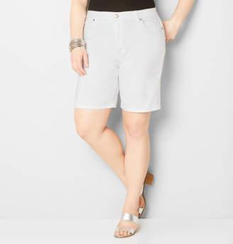 Avenue Denim Bermuda Short in White 28-32