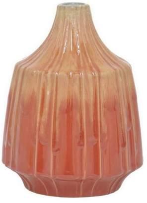 Benzara 6.5 Red Ceramic Vase