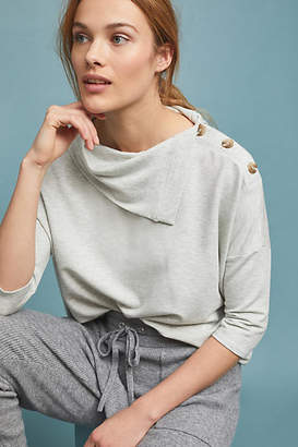 Anthropologie Buttoned Beach Terry Pullover