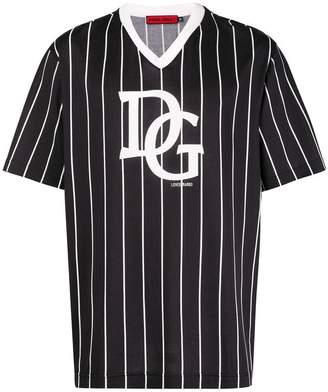 Dolce & Gabbana striped logo T-shirt