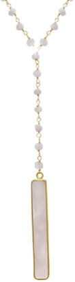 Forever Creations USA Inc. Forever Creations 18K Over Silver 30.00 Ct. Tw. Moonstone Beaded Necklace