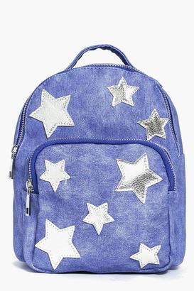 boohoo Amelia Star Print Backpack $34 thestylecure.com