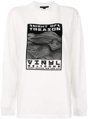Alexander Wang Night of Treason print sweatshirt