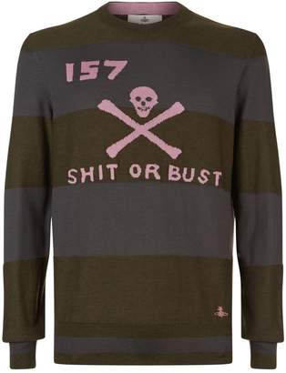 Vivienne Westwood Striped Skull Sweater
