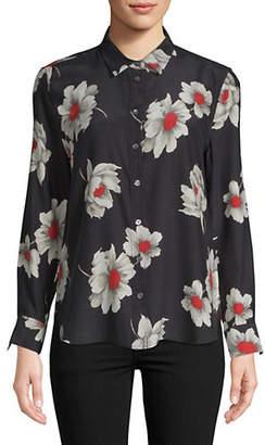 Equipment Leema Floral Silk Button-Down Shirt