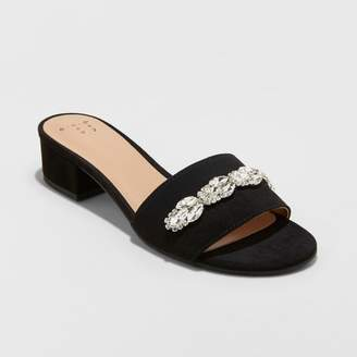 A New Day Women's Jerrie Embellished Slide Pumps