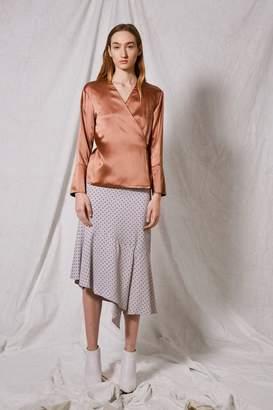 Boutique **silk wrap blouse