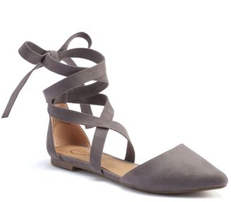 Candie's® Women's Lace-Up D'Orsay Flats $49.99 thestylecure.com