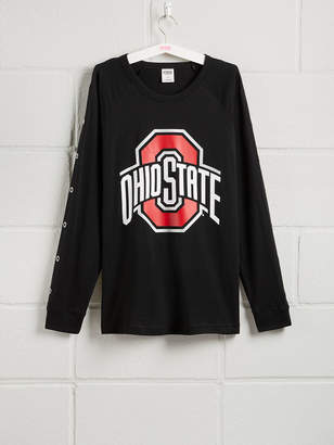 PINK The Ohio State University Long Sleeve Grommet Campus Tee