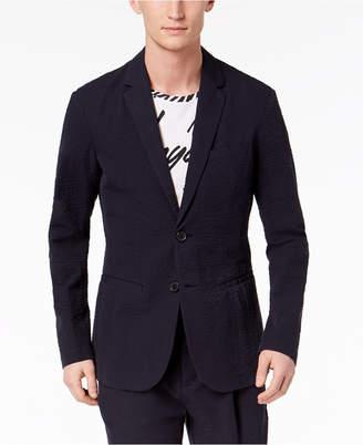 Armani Exchange Men's Slim-Fit Seersucker Suit Jacket