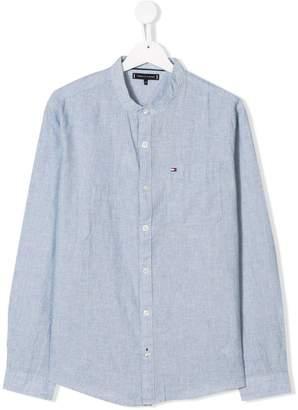 Tommy Hilfiger Junior mandarin collar shirt