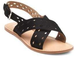Matisse Whistler Leather and Calf Hair Slingback Sandals