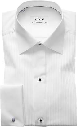 Eton Contemporary Fit Pleated Bib Tuxedo Shirt