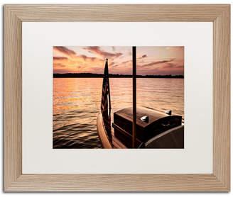 """Chippewa Jason Shaffer 'Chippewa Lake' Matted Framed Art - 20"""" x 16"""""""