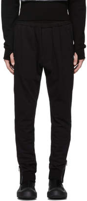 Julius Black Side-Zip Lounge Pants