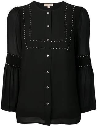 MICHAEL Michael Kors studded detail blouse