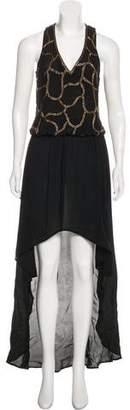 Karina Grimaldi Silk Maxi Dress