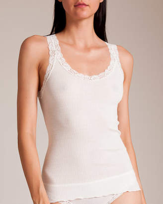Oscalito Leavers Lace Rib Tank