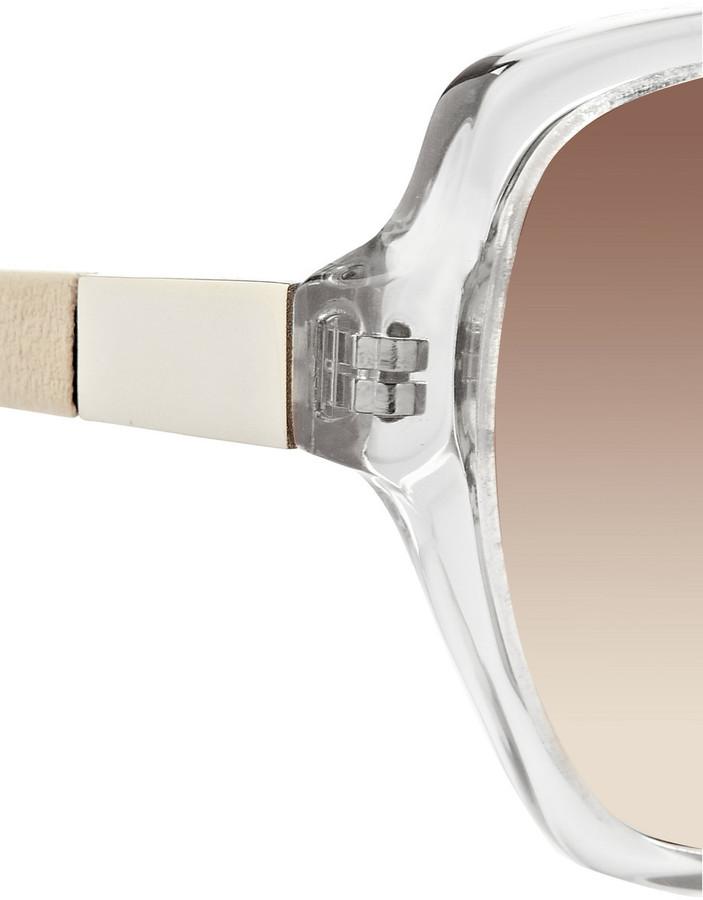 The Row Square-frame acetate sunglasses
