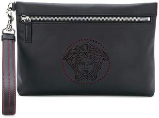 Versace perforated Medusa clutch