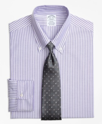 Brooks Brothers Original Polo Button-Down Oxford Regent Fitted Dress Shirt, Ground Stripe