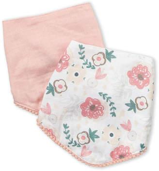 Baby Essentials Chick Pea (Newborn Girls) Two-Pack Floral & Solid Bib Set