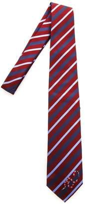 Gucci Silk Striped Kingsnake Tie