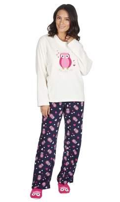 ee32a9d9d4 Forever Dreaming Ladies Fleece Pyjama and Ballet Slipper Set