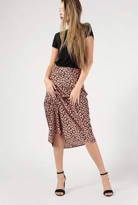 Azalea Floral Print Satin Skirt