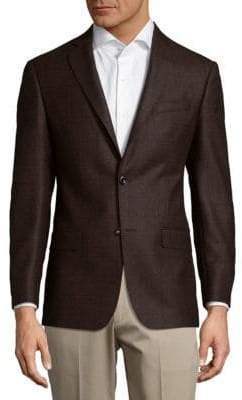 Michael Kors Windowpane Wool Jacket