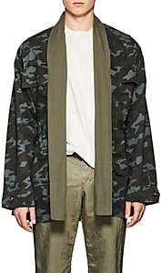 NSF Men's Camouflage Cotton Field Jacket-Grn. Pat. Size L