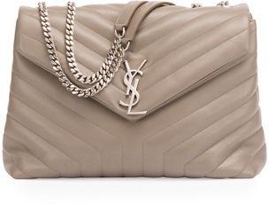 Saint Laurent Loulou Monogram Matelassé Medium Envelope Satchel Bag $1,990 thestylecure.com