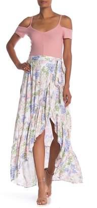 Vintage Havana Floral Print Wrap Maxi Skirt