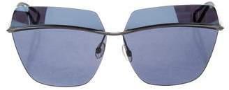 Christian Dior Metallic Rimless Sunglasses