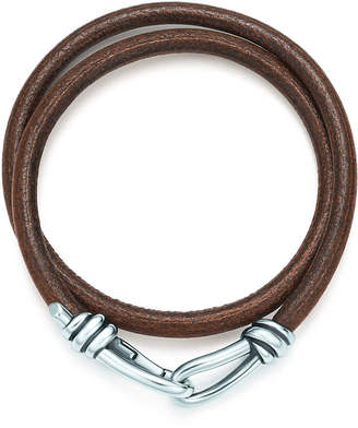 Tiffany Co Paloma Pico Knot Double Braid Wrap Bracelet Of Leather And Silver