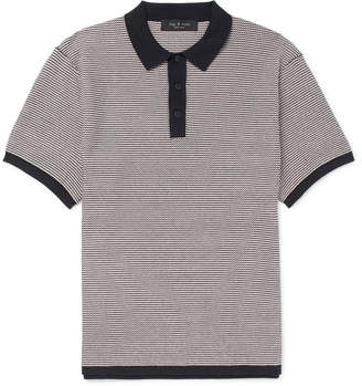 Rag & Bone Finn Slim-Fit Striped Stretch Cotton-Blend Polo Shirt