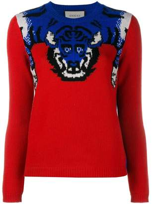 Gucci tiger knit jumper