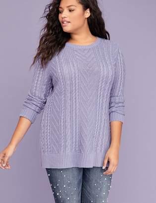 Lane Bryant Chevron Cable Sweater