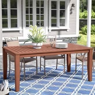 Three Posts Hursey Solid Wood Dining Table