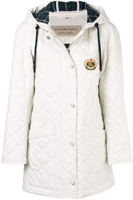 Burberry lightweight diamond quilted parka