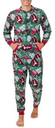 Fruit of the Loom Men's Holiday Print Fleece Union Suit