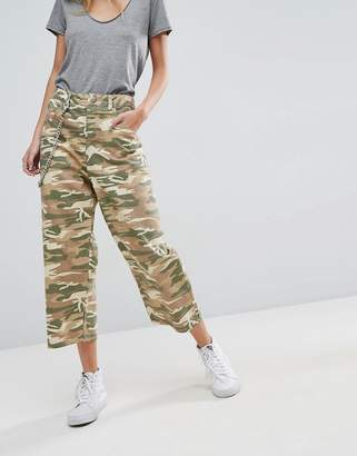 Asos DESIGN Crop Skater Jeans in Camo Print