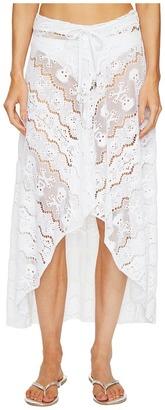 Letarte - Skull Lace Skirt Women's Skirt $238 thestylecure.com