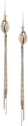 Ann Demeulemeester chain drop shell earrings