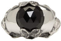 Ugo Cacciatori Silver Double Skull Ring