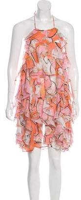 Emilio Pucci Printed Ruffle Dress w/ Tags