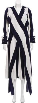 Monse Striped Midi Dress w/ Tags